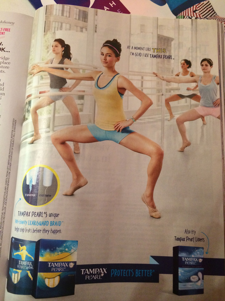 Tampax Pearl ad