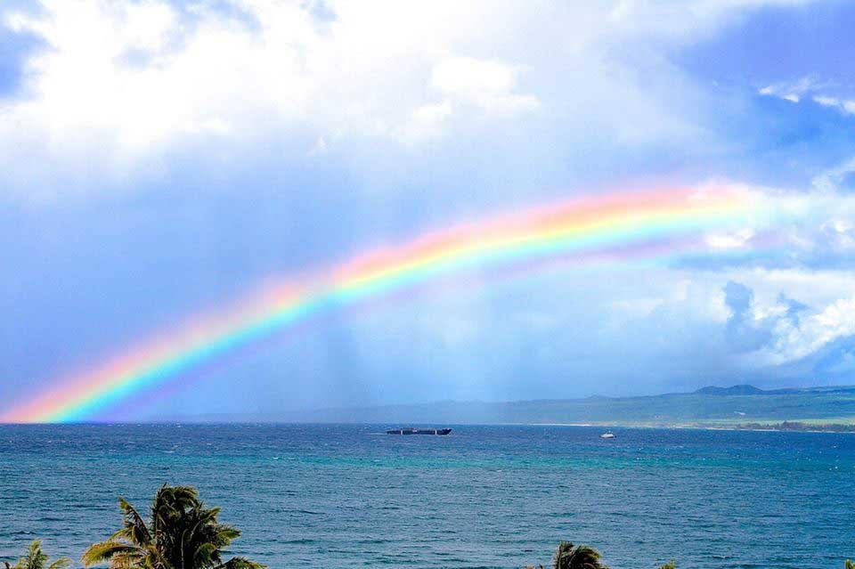 Rainbow Across the Ocean