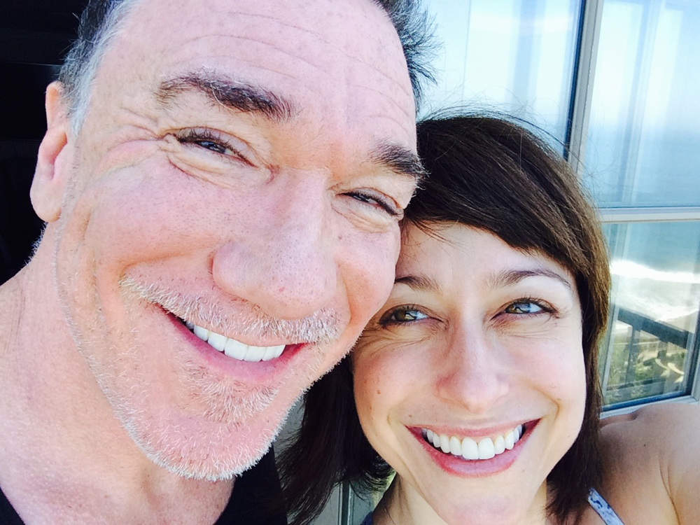 Patrick Page and Paige Davis enjoying the view in Laguna Niguel.