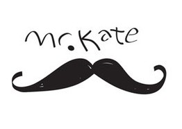 Mr. Kate's mustache logo