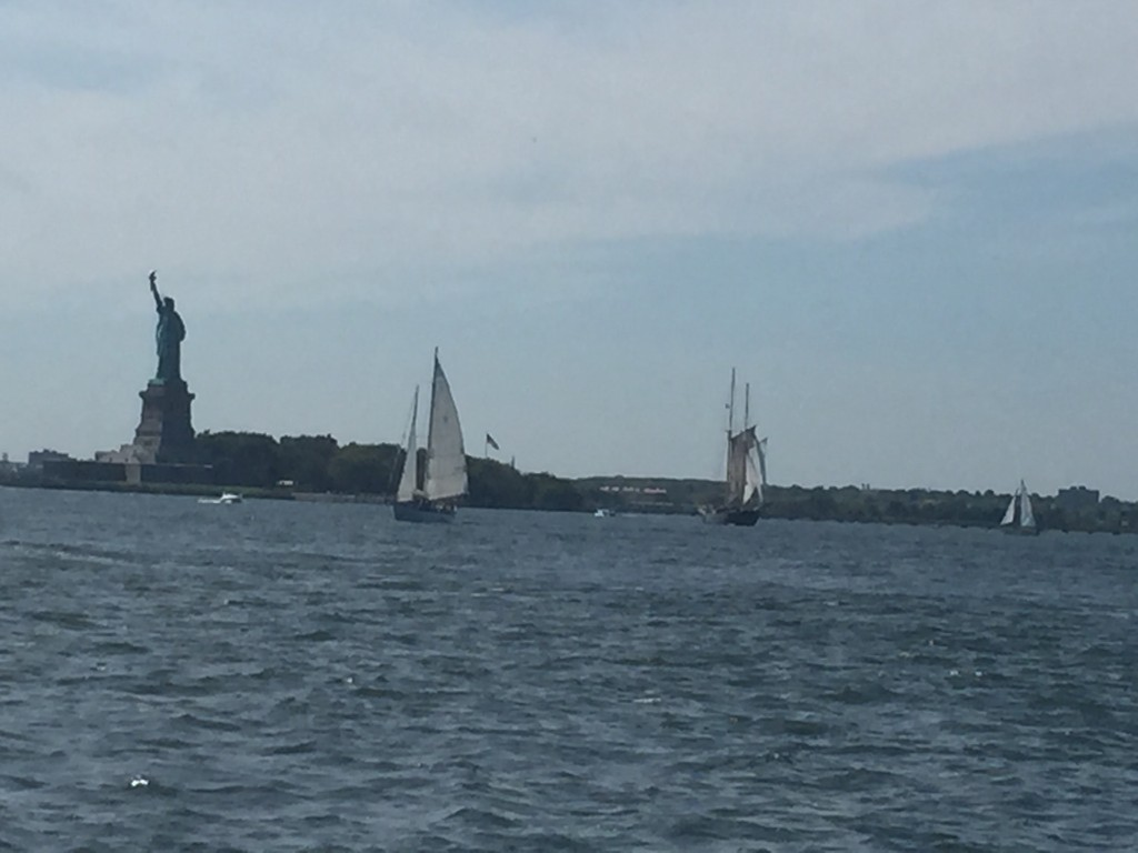 View of the Statue of Liberty from Governors Island.